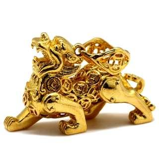 916 Gold Fengshui Pixiu Pendant