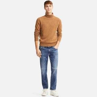 Uniqlo MEN Slim Fit Damaged Jeans - 60% off RRP S$59.90