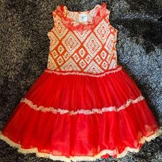 Baby Fashionistas Red Birthday Tutu Girls Dress