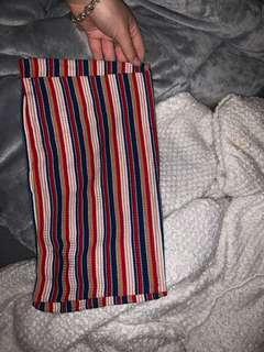 button bandeau stripes