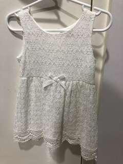 🚚 Girl white dress
