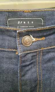 Forever 21 mens Blue Denim Pants