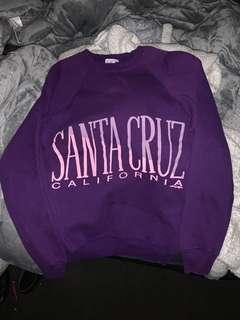 vintage purple santa cruz jumper/sweater