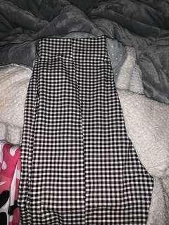 slim fit, pinstripe, stretchy pants checkered