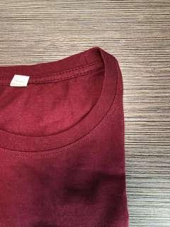 basic maroon top