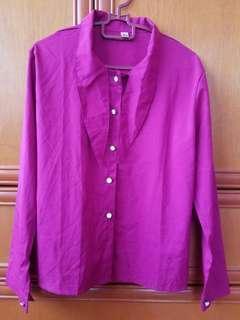 Fuchsia long sleeve shirt