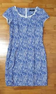 🚚 IORA blue lace print dress #MRTTampines #MRTRaffles