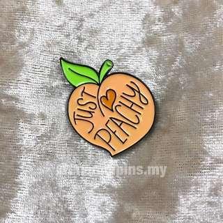 Just peachy enamel pin