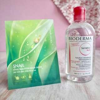 Bioderma Sensibio 500ml + Sheet Mask