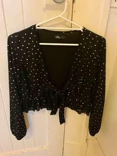 Black and Gold tie top
