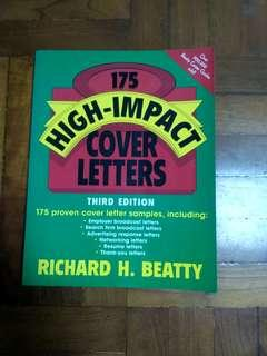 """""""175 high_impact cover letters"""" 3Rd edition, 全新未用過。"""