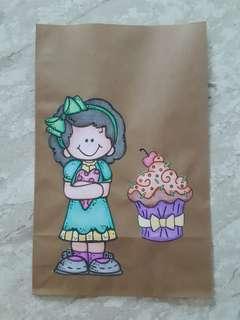 Handmade Paper Gift Bag-Girl with Heart