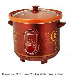3.5L Slow Cooker with Ceramic Pot