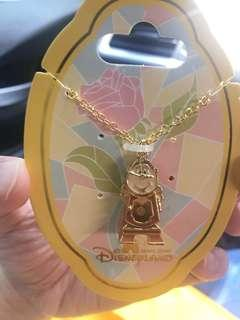 Cogsworth necklace disney hongkong Beauty and the Beast