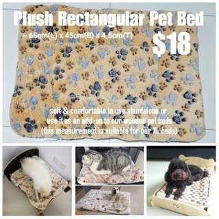 Paws Plush Reversible Pet Bed