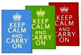 Keep Calm And Carry On set of 3 Tea Towels