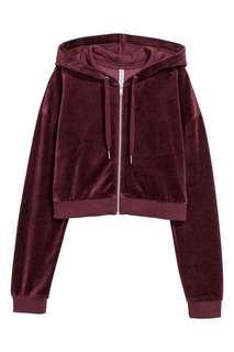H&M Velvet crop jacket