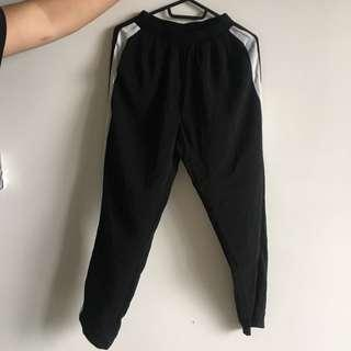 Black joggers with stretchable waist band