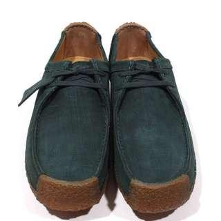 🚚 Natalie Clarks Dk Green Suede Leather UK8 EUR42 US9