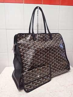 Goyard black sac hardy bag