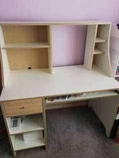 IKEA computer table come with shelve