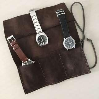 [SOLD OUT] Leather Watch Roll 3-Slots