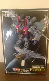 日版 變形金剛 Takara Transformers MP-3 Starscream 星星叫 河森正治 mp3 mp03 masterpiece convoy megatron