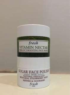 Sugar face polish & vitamin nectar