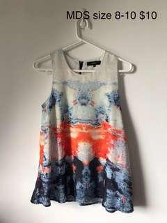🚚 MDS Sleeveless marble top #dressforsuccess30