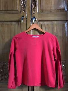 Avenue red cape top