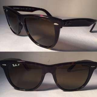 Ray Ban RB2140 Wayfarer Sunglasses Hand Made in Italy Polarized