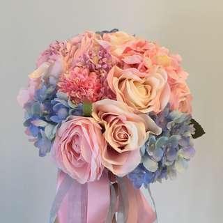 結婚花球絲花