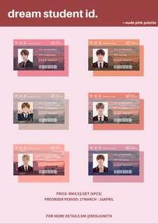 dream student id photocards (nude pink palette)
