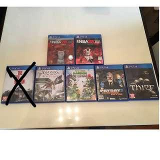PS4 遊戲多隻 (多買可平)