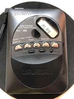 極罕有雙磁頭 Sony Walkman WM-FX909 made in Japan 100% work