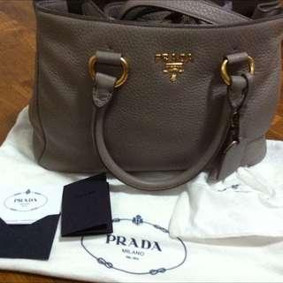 Prada BN2878 Vitello Daino Tote Leather Bag