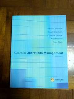 """""""Cases in operations management"""" 3rd edition"""