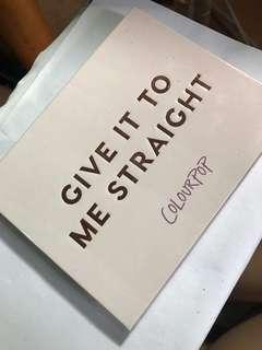 🚚 Colourpop眼影盤。give it to me straight