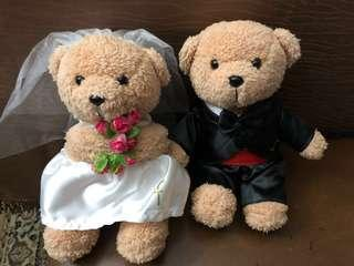 Fullerton Hotel wedding teddy bears 婚礼