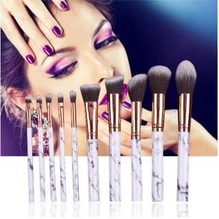 🚚 10pcs Professional Marbling Makeup Brush Set (Powder Foundation Eyeshadow Cosmetic Tools)