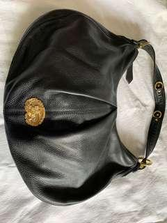 Authentic Burberry Black Leather Hobo Bag