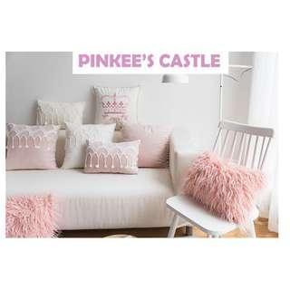 Princess Style Lace Cushion Cover, 公主款粉色系lace咕𠱸套