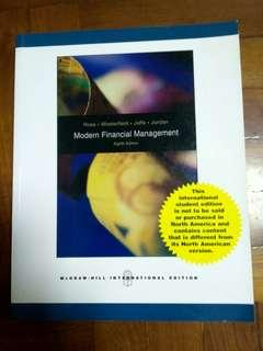 """Modern financial management"" 8th edition, 全新未用過。"