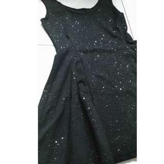 黑色傘洋 連身裙 內搭裙