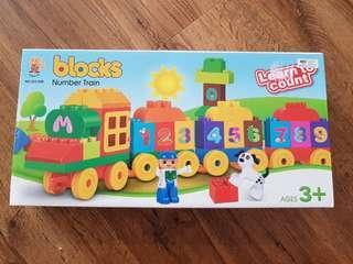 Number Train Building Blocks