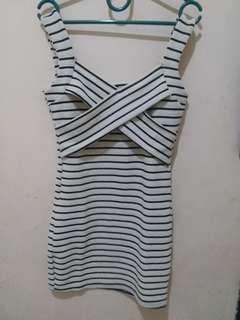 Mini dress black & white