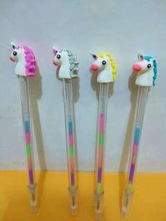 Pen Gel Rainbow karakter Unicorn