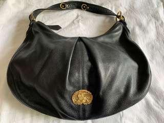 Burberry Black Leather Hobo Bag (Pre-Loved)