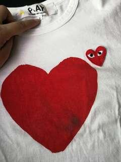 Authentic CDG Play Heart Men Tee