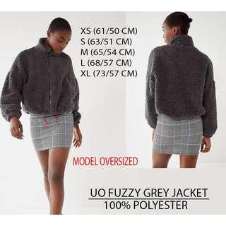 Urban jacket fuzzy grey